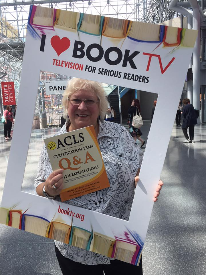 Michele at Book Expo at the Javitz Center in NYC to share her new ACLS book with the public.
