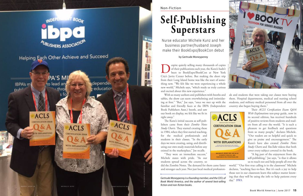 Self-Publishing Superstars: Nurse educator Michele Kunz and her business partner/husband Joseph make their BookExpo/BookCon debut