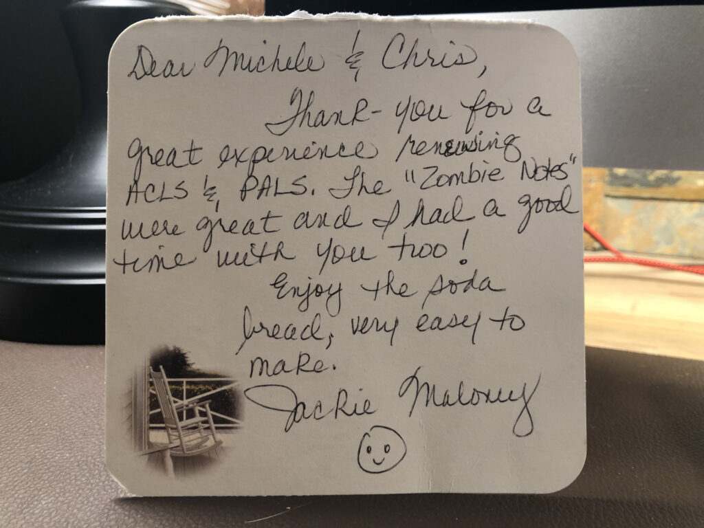 Thank You Note from Jackie Maloney March 2017