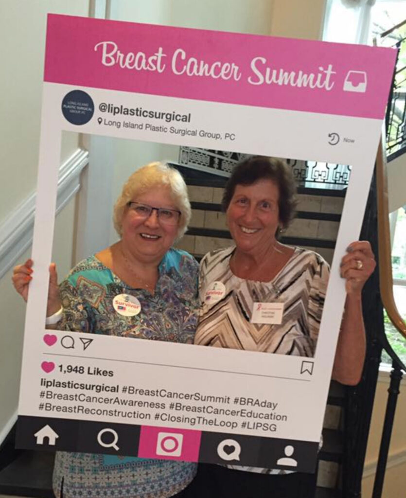 Michele-and-Christine-at-Breast-Cancer-Summit-Conference