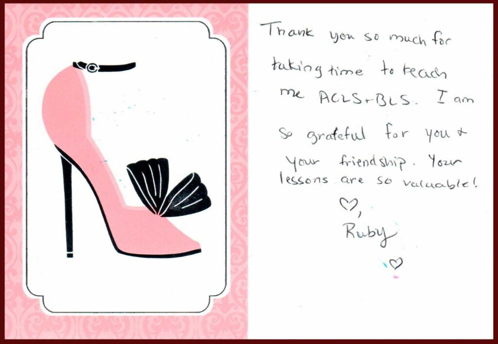 Thank you note from Dr. Ruby Gardner, DPM, July 2021
